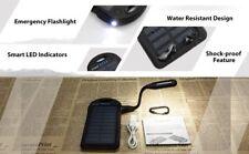 5000mAh Portable Solar Power Bank Waterproof/Shockproof/Dustproof 2 USB Battery