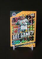 Aaron Rodgers 2020 Panini Mosaic Orange Flouresent Prizm /25 NFL Packers SSP PSA