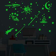 2Pcs Luminous Wall Stickers Fluorescent Self Adhesive Wallpaper Wall decor