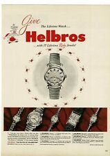1953 HELBROS Monte Cristo Wrist Watch Vintage Ad