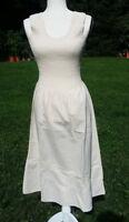 Manta Cotton Dress Mexican Chiapas Natural Cream MT# 11 See Size Measurements