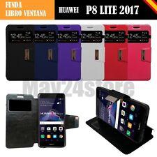 Funda soporte libro ventana Huawei P8 LITE 2017