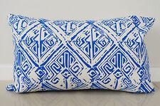 Blue Aztec Cushion Cover Throw Pillow Case Home Decor 100% Cotton 30x50cm Kibui