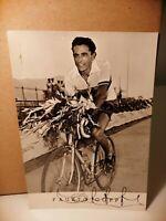 Ciclismo Autografo Fausto Coppi fotografia Terreni Parabiago anni '50
