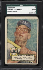 1952 Topps MICKEY MANTLE Rookie New York Yankees SGC 1 10 CENTERED #311 RC
