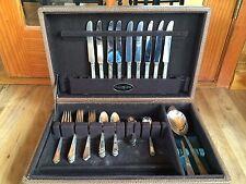 Vintage 1847 Rogers Bros 41 Piece Silverware Flatware With Case