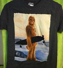 Star Wars Chewie Chewbacca Longboard Skateboard T Shirt S - NWT
