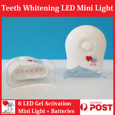 Teeth Whitening 6 LED Gel Activation Mini Light + SILICON MOUTH TRAY - Free Post