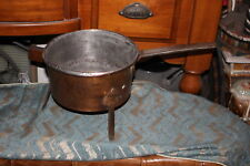 Antique Primitive Copper Metal Footed Cooking Vessel Pot-Country Decor