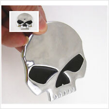 Silver logo Emblème Crâne Harley Autocollant Badge Carrosserie Côté Réservoir Capot Fender