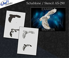 Step by Step Stencil ~~ UMR Airbrush Schablone AS-290 M