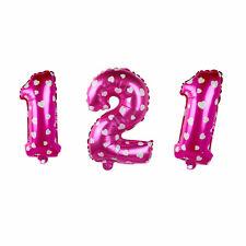 40.6cm Lindo Plata Números Letras globos de Papel Aluminio Cumpleaños Decoración