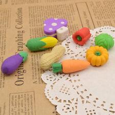Cute Vegetables Shape Rubber Pencil Eraser Novelty Children Stationery Random 1x