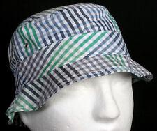 New Era EK Fresh Bucket Blue Gray Green Plaid Fitted Summer Hat Size Medium Rare
