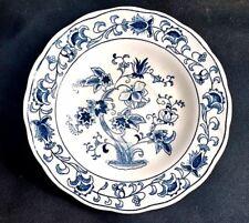 Nikko Ming Tree Saucer Double Dragon Ironware Asian Pattern Blue White