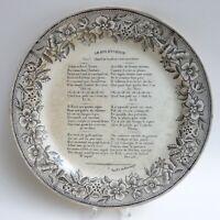 Assiette Faïence fine de Choisy - Décor imprimé - 1830