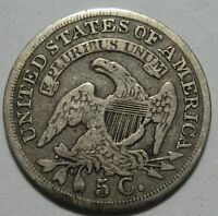 = 1837 F/VF Bust HALF DIME, Nice Details & EYE Appeal, FREE Shipping