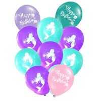 10Pcs Mermaid Balloons Baby Shower Birthday Decor Party Supplies Inflatable Toys