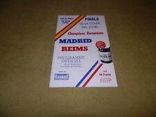 European Cup Final-Real Madrid V Reims en 1956 au parc des princes réimpression