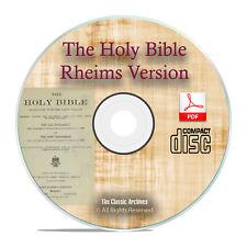 DOUAI DOUAY RHEIMS VERSION, CATHOLIC BIBLE With Apocrypha History PDF CD H11