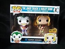 Funko Pop! The Joker (Beach) & Harley Quinn Hot Topic Exclusive 2 pack