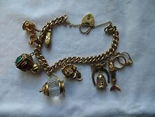 GORGEOUS ANTIQUE 9ct GOLD CHARM BRACELET & 10 9ct YELLOW GOLD CHARMS 43.3g