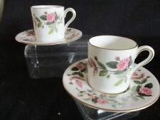 Wedgwood Hathaway Rose Coffee cups & saucers x 2