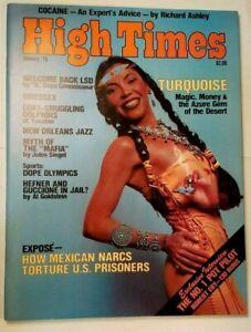 HIGH TIMES TURQUOISE VIDEOSEX VINTAGE JAN 1979 MARIJUANA MAGAZINE WEED 420 N/M
