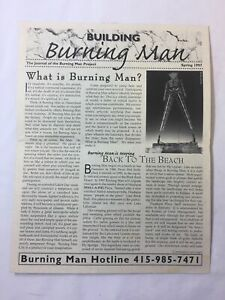 1997 BURNING MAN mailout newsletter