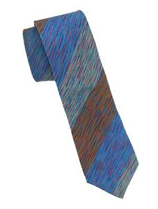 "Silk Tie Red Necktie Jean-Louis Scherrer Blue, Red Green Stripe 3"" x 56"""