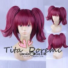 Halloween Wig Cosplay Black Butler wine red long party style fashion Hair