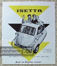 BMW ISETTA Bubble Car REPRODUCTION Sales Brochure 1991