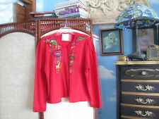 Vintage EMMANUELLE KHANH BLAZER embroidered beaded size 38 France