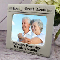 Really Great News Funny Newspaper Picture Frame 4x5 Photo Birthday Age Gag Gift