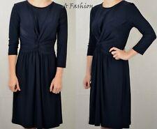 NEXT UK 18 NAVY BLUE DRESS 569 LADIES NEW STRETCH WORKWEAR