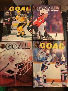 lot of 4 Vintag Goal Hockey Magazine1983 Wayne Gretzky Mark Howe Bernie Nicholls