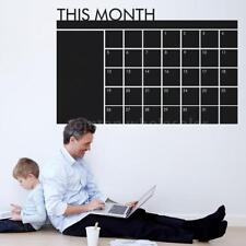 Calendar Blackboard Removable Wall Sticker For Monthly Planner Chalk Board Decal