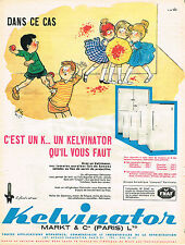 PUBLICITE ADVERTISING 074  1961  KELVINATOR  réfrigérateur  par BELLUS