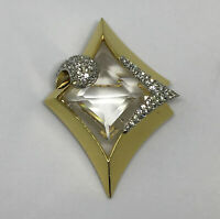 VTG 1978 Givenchy Paris New York Runway Crystal Rhinestone Statement Brooch Pin