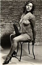 CPA femme. NUDE RISQUE real photo (500188)