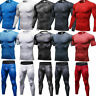 Mens Athletic Base Layers Compression Gym Running Tights Shorts Moisture Wicking