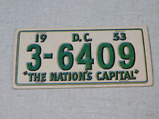 1953 Topps license plate gum card Washington D.C.