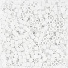 Miyuki Delica Seed Beads 3mm Size 8/0 Opaque Chalk White - 6.8g Tube (J101/3)