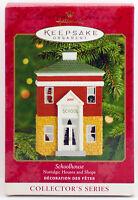 2000 SCHOOLHOUSE NM/VSD Box NEW Hallmark Nostalgic Houses Shops Ornament SCHOOL
