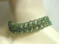 Beaded Choker Sage Green Necklace Victorian Edardian Vintage Antique Style NEW