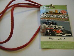 NURBURGRING OLDTIMER DRIVER PASS 2004 FERRARI 250 GTE GTO DINO 275 348 330 F1 F2