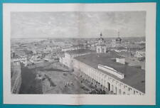 RUSSIA View of Astrachan Astrakhan - 1880s Wood Engraving Print