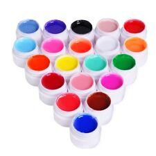 20 Farben UV Nagel Gel Perle Farbe UV Gel Effekt Farbgel Pure Nail Art Set