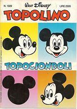 TOPOLINO N° 1929 - 15 NOVEMBRE 1992