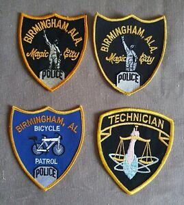 USA - 4 x Different Birmingham Police Patches - Alabama